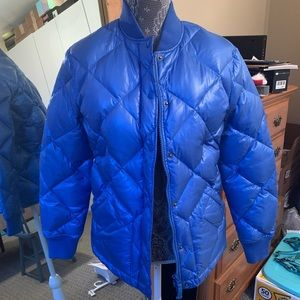 J. Crew Collection Shiny Blue Puffer Winter Jacket